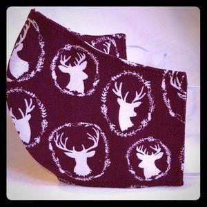 Handcrafted Deer print face mask